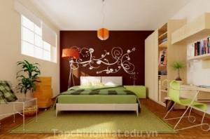 Bức tường đẹp lạ trong phòng ngủ