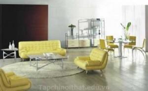 Thiết kế nội thất phòng khách theo phong cách Hàn Quốc