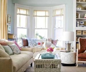 Thiết kế phòng khách ấm áp mang phong cách của mùa thu