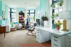 Cải tạo căn hộ đầy sức sống với gam màu xanh của nước