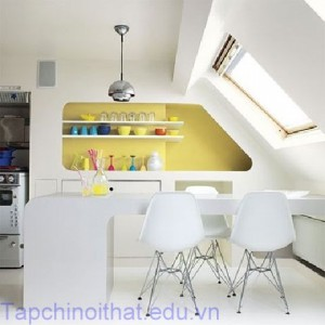 Nhà bếp phá cách với những gam màu nổi bật