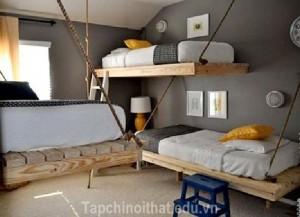 Giường treo – món nội thất mộc mạc và vô cùng ấn tượng