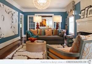 Không gian phòng khách sang trọng với màu sơn phù hợp