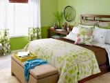 Màu xanh lá cây cho phòng ngủ mát dịu