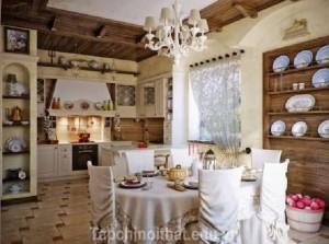 Phòng ăn đẹp với nội thất đèn chùm