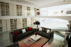 Phòng khách nhà biệt thự diện tích rộng