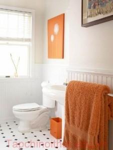 Kết hợp màu sắc tạo phong cách cho phòng tắm