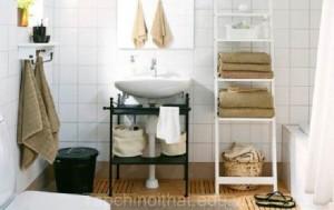 Sắp xếp không gian phòng tắm khoa học