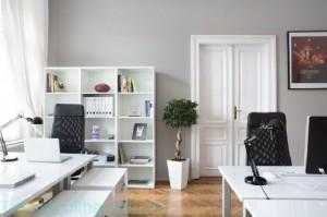 Đen – Trắng : Cặp màu kinh điển cho phòng làm việc đẳng cấp