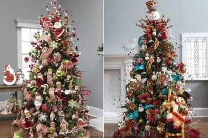 Ngộ nghĩnh với kiểu trang trí cây Noel đẹp