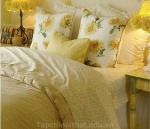 Phối hợp màu sắc hoàn hảo làm cho không gian phòng ngủ thêm nổi  bật
