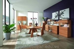 Nền nhà sàn gỗ cho phòng ăn