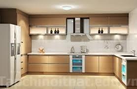 Trang trí phòng ăn với tủ bếp cánh