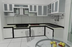 Trang trí bàn ăn với tủ bếp kính