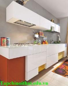 Decor bếp với màu trắng