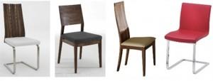 Các kiểu dáng ghế cho bàn ăn
