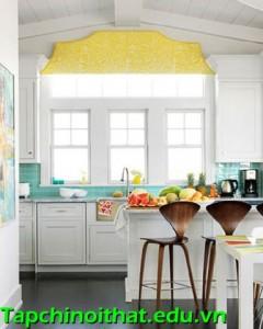 Phòng bếp thêm sinh động với gạch ốp tường