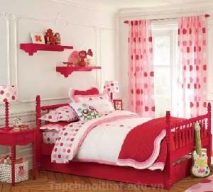 Phòng ngủ nữ tính cho bé gái yêu