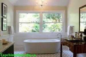 Bí quyết làm mới phòng tắm của một Designer