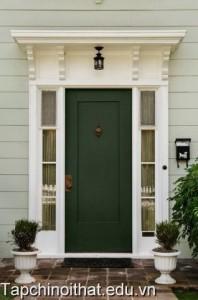 Những màu sơn ấn tượng cho cửa nhà