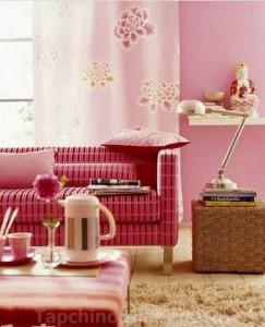 Thiết kế nội thất màu hồng