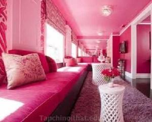 Màu hồng theo phong thủy