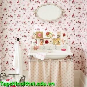 Phong cách vintage cho phòng tắm ngọt ngào