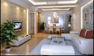 Phòng khách nhà ống với nội thất nổi bật