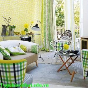 Đem màu sắc tươi mát vào phòng khách mùa hè (P1)