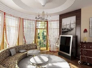 Phòng khách với những chiếc cửa sổ