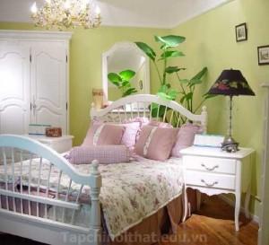 Phòng ngủ với cây cảnh đẹp