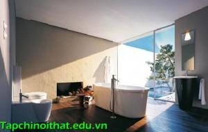 Để phòng tắm ấm áp đón mùa sang