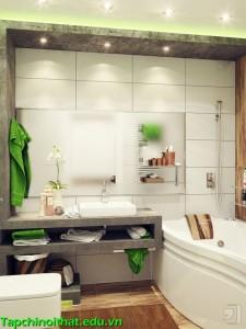 Ngây ngất trước những mẫu phòng tắm nhỏ mà sang trọng