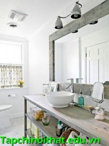 Vài bước đơn giản để có phòng tắm theo phong cách đồng quê