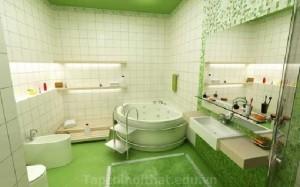 Phòng tắm đẹp với mẫu gạch ốp men độc đáo