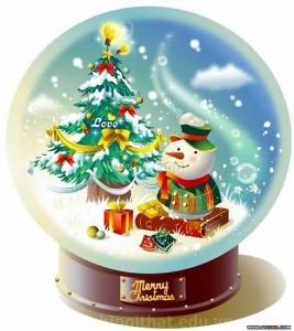 Trang trí quả cầu tuyết cho Noel