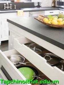 Những kiểu tủ bếp ấn tượng và tiện dụng