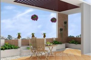 Kiến trúc vườn xanh cho sân thượng