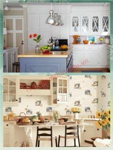 Trang trí tường phòng bếp bằng đề can