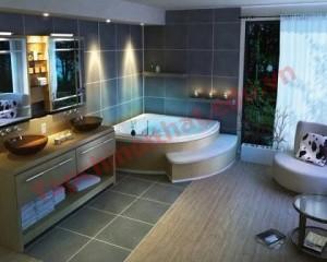 Nội thất phòng tắm đơn giản