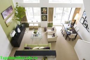 Thiết kế phòng khách kết hợp phòng ăn đẹp