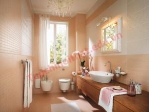 Phòng tắm màu kem