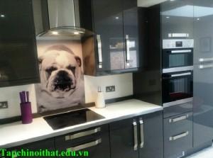 Vách kính cường lực cho phòng bếp đẹp và hiện đại