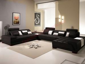 Tạo ấn tượng với nội thất phòng khách màu đen