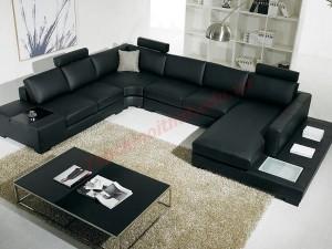 Phòng khách màu đen mang lại vẻ sang trọng của ngôi nhà