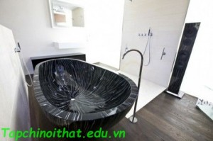 Thiết kế bồn tắm gỗ hiện đại từ 'Sasso'
