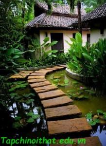 Khu vườn có lối đi