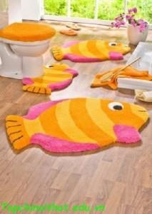 Trang trí thảm cho phòng tắm sang trọng