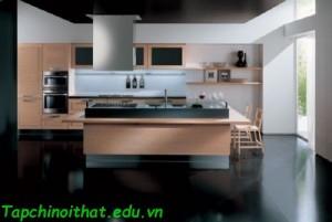 Thiết kế tủ bếp gỗ theo phong cách hiện đại