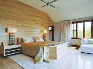 Tường ốp gỗ, cách trang trí đắt đỏ nhưng hiệu quả cao.